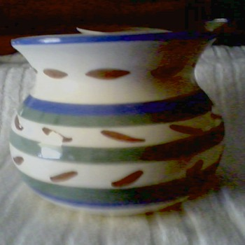 "Ungemach ""Striped"" Cuspidor / Planter / Marked UNGEMACH USA UPCO - Art Pottery"