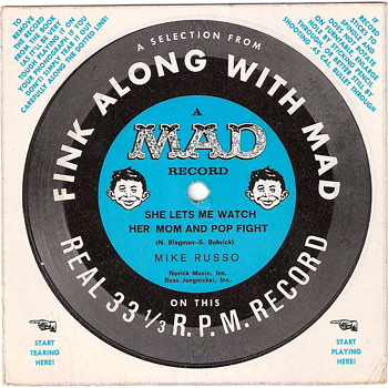 Mad Magazine Record - Fink Along With Mad - Records