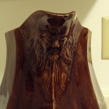 Bennington(???)Old Man on the Mountain Pitcher - Art Pottery