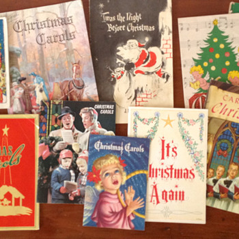 My Vast Collection of Vintage Christmas Carol Booklets - Christmas