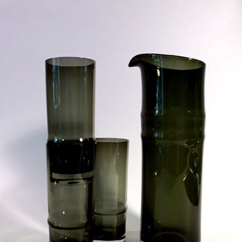 Hans Theo Baumann Jug and Glasses for Gralglas - Art Glass