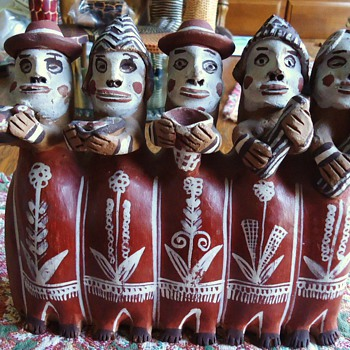 Flute of the 5 priest, Last battle for Independence from Spain, Ayacucho Peru - Art Pottery