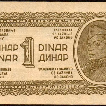 Yugoslavia - (1) Dinar Bank Note