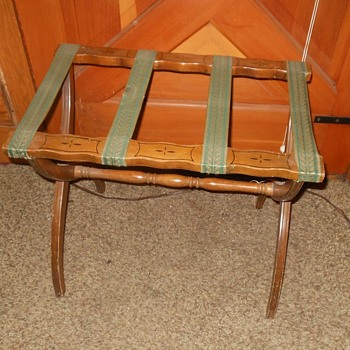 Vintage Suitcase Luggage Rack 1940s