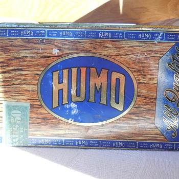 Vintage HUMO Cigar Tin Box MazerCigar Mfg. Co.  Flea Market Find