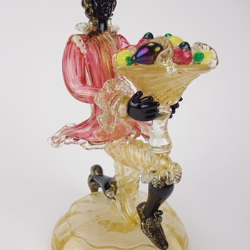 MURANO BLACKAMOOR FIGURINE - Art Glass