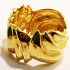 Vintage Ciner Modernist Sculptural Swirl Bangle