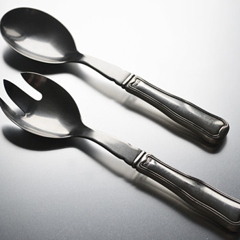 Georg Jensen 'Old Danish' sterling silver salad servers - Sterling Silver