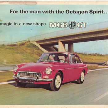 1966 MG/MGB GT Sales Brochure - Advertising
