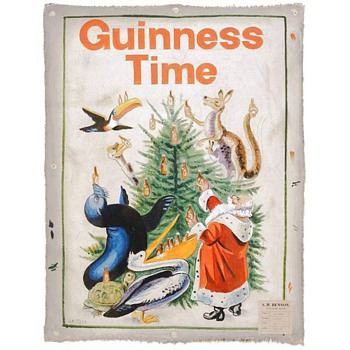 More Vintage Ads With Santa - Early Guinness Study for Poster - Posters and Prints