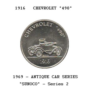 Sun Oil Co. - Antique Car Coin - US Coins
