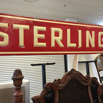 "Ceramic ""STERLING"" sign - Signs"