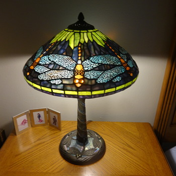 my tiffany  dragon fly lamp