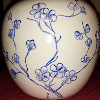 Cherry Blossom Vase - Art Pottery