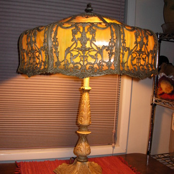 Need Info on How to Refurbish Slag Glass Table Lamp - Lamps
