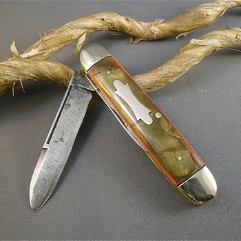 Hibbard Spencer Bartlett 1930s Celluloid Knife - Tools and Hardware