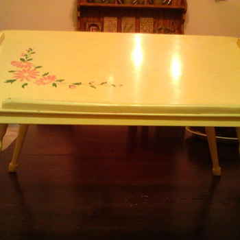 Vintage folding wood bed and breakfast tray - Furniture