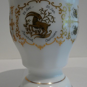 Milk Glass Mystery Beaker