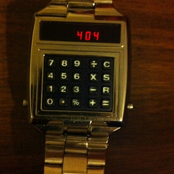 My Vintage 1976 Hughes Aircraft Calculator Watch/Battlestar Galactica - Wristwatches
