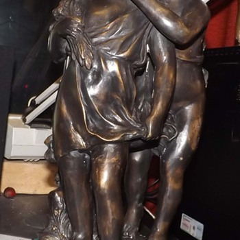 "Auguste Moreau, Bronze Sculpture ""Secret"""