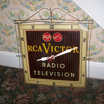 Vintage R C A Victor Clock Radio Television - Advertising