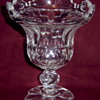 Elegant Heavy Cut Glass Compote