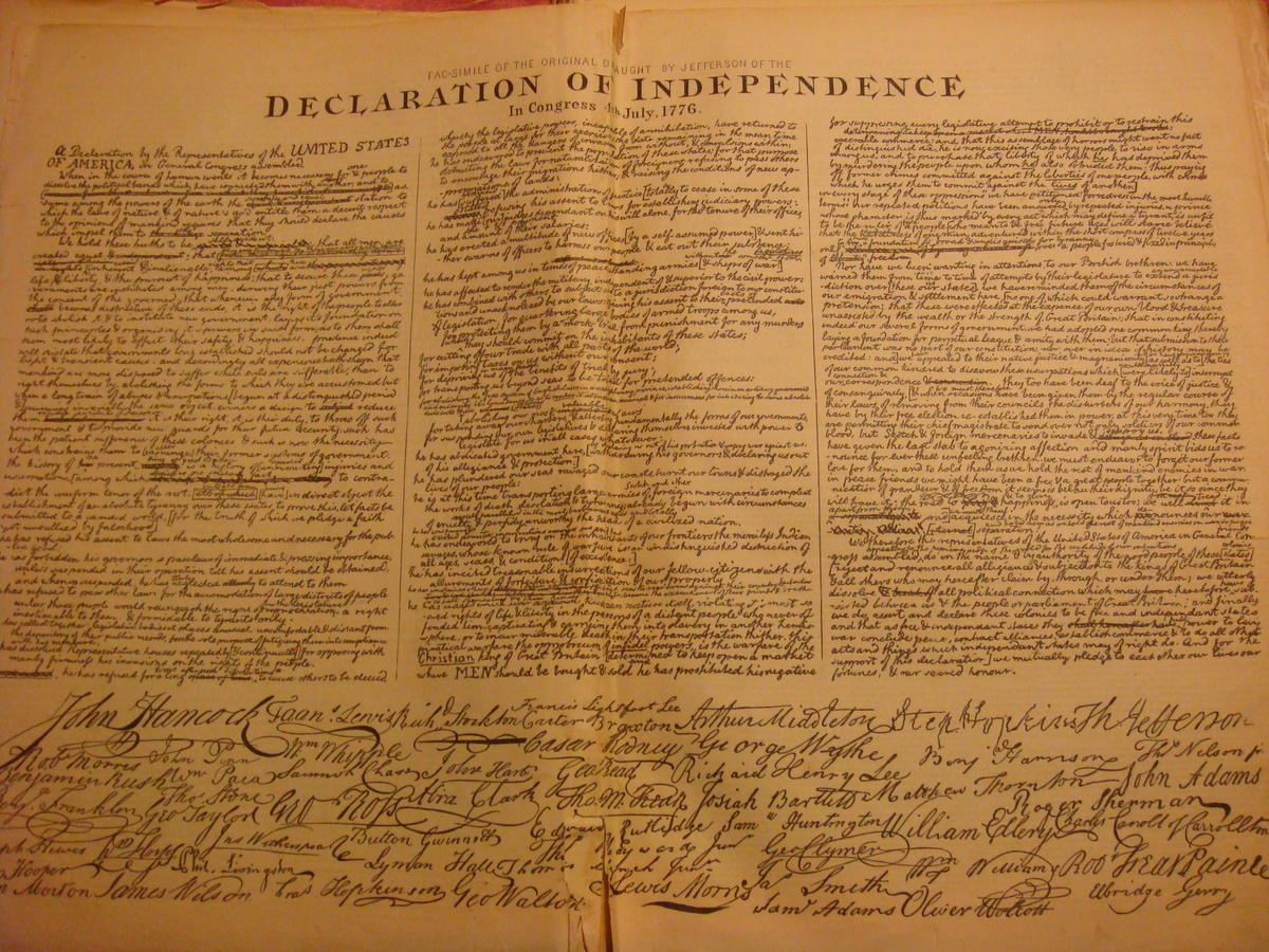 facsimile of the original draught of the declaration of ...