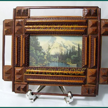 """True"" TRAMP ART - Frame - 72 Pieces - Folk Art"