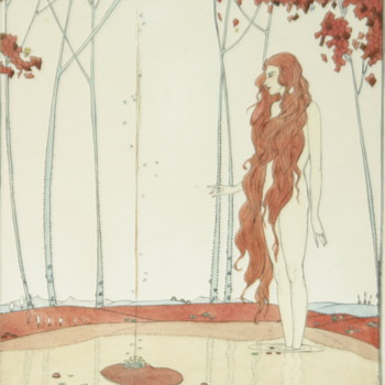Anyone know who painted this amazing Art Nouveau or Art Deco watercolor...?? - Art Nouveau