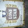 Vintage Lone Star Beer sign