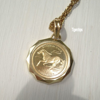 Bosnian gold coin and pendant - Fine Jewelry