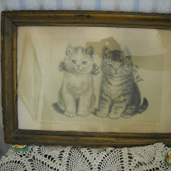 OLD BROTHER & SISTER CAT PRINT