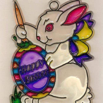 """Happy Easter"" - Sun-catcher - Animals"