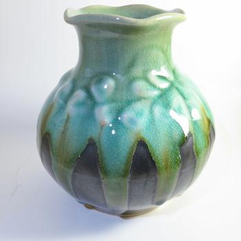 Drip Glaze Vase - Art Pottery