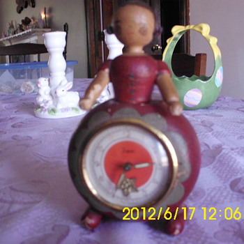 wooden doll clock - Clocks