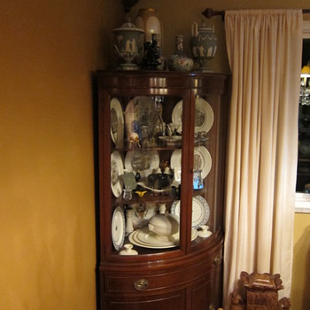 China Cabinet with Wedgwood China - China and Dinnerware