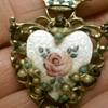 Heart shaped brooch