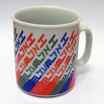 EL AL Coffee Mug, 1980's period. - Advertising