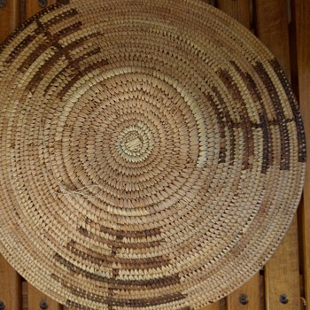 Woven Coiled basket, interesting design