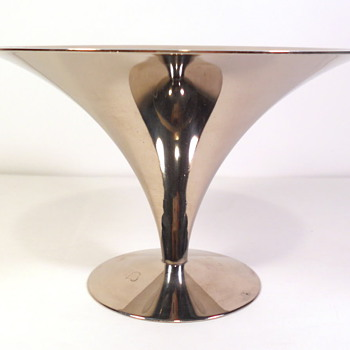 Saarinen Silver or Chrome Comport - Mid Century Modern