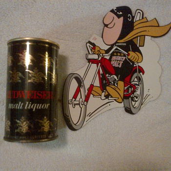 1971 Budweiser Malt Liquor Can and Malt Man Chopper Decal