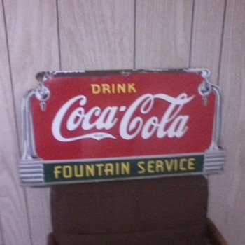 This is my entire Coca Cola sign collection. - Coca-Cola