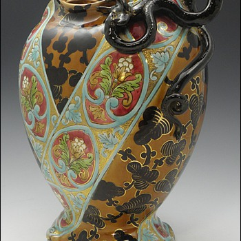 Large Vase by Keller and Guerin - Luneville, France - Pottery