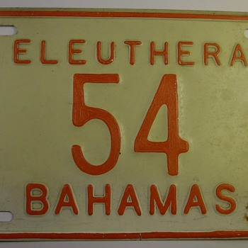 Eleuthera Bahamas License Plate (last stamped in '79)