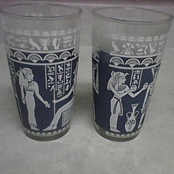 EGYPTIAN STYLE GLASSES - Glassware