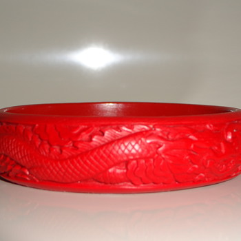 Cinnabar Vintage Bangle - Or Not? - Costume Jewelry