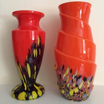 How do you follow Al?  Two small tango vases! - Art Glass