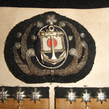 Japanese Navy and Merchant Marine insignia from WW2 - Military and Wartime
