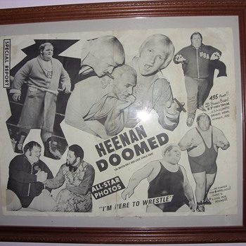 1970s bobby heenan promotinal poster
