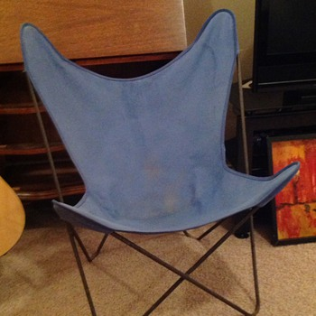 "Vintage Iron Butterfly Chair Antonio Bonet ""Hardoy Chair"""